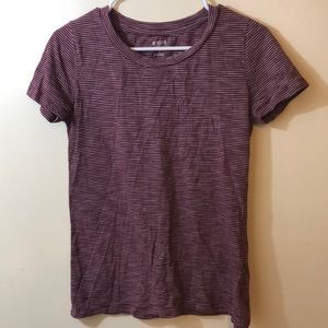 MOSSIMO Maroon Striped T-Shirt